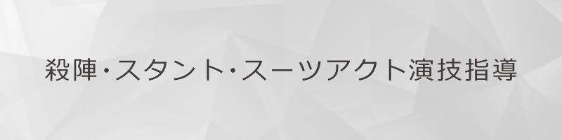殺陣・スタント・スーツアクト演技指導